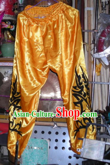 Gold Professional Competiton and Performance Dragon Dancer and Lion Dance Pants