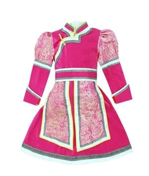 Traditional Mongolian Dresses for Children