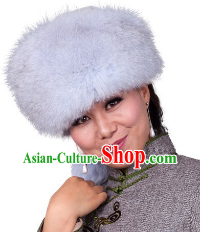 Traditional Chinese Handmade Mongolian Empress Fox Hat