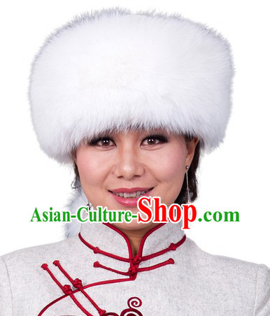 Traditional Chinese Mongolian Fox Hat
