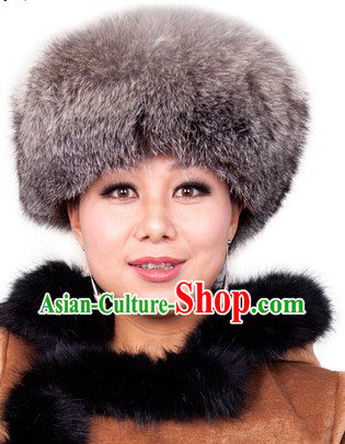 Traditional Chinese Handmade Mongolian Fox Hat