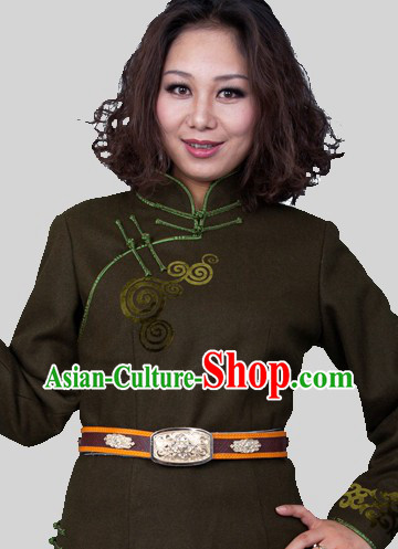 Traditional Chinese Long Mongolian Clothes for Women