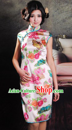 Traditional Chinese Silk Butterfly Skirt
