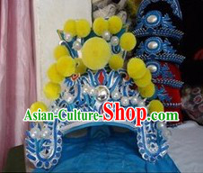 Traditional Chinese Beijing Opera Wu Sheng General Hat
