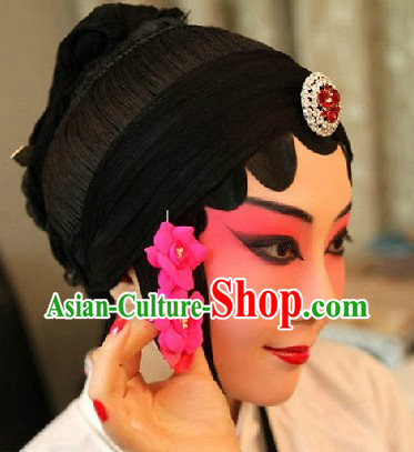 Traditional Chinese Beijing Opera Hua Dan Wig Set