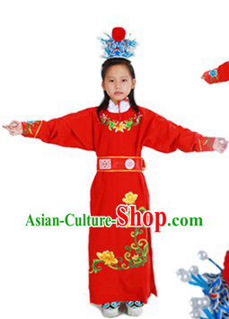 Jia Baoyu Dream of Red Chamber Costumes and Headwear for Kids