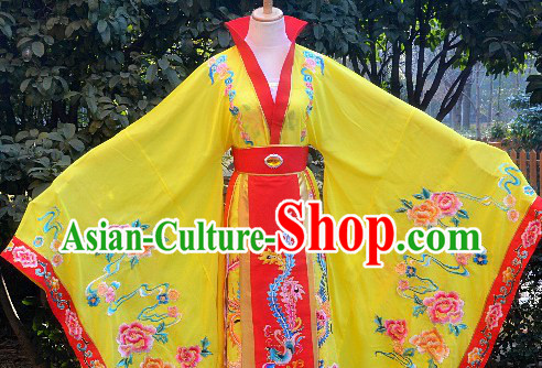 Traditional Chinese Stage Performance Empress Embroidered Clothes