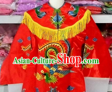 Chinese Peking Opera Red Phoenix Costumes for Kids