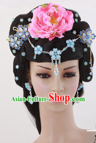 Traditional Chinese Royal Princess Long Wig and Hairpieces