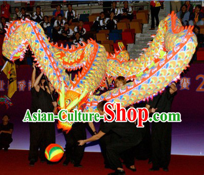 Professional Performance World Luminous Dragon Dance Championship Costumes Complete Set