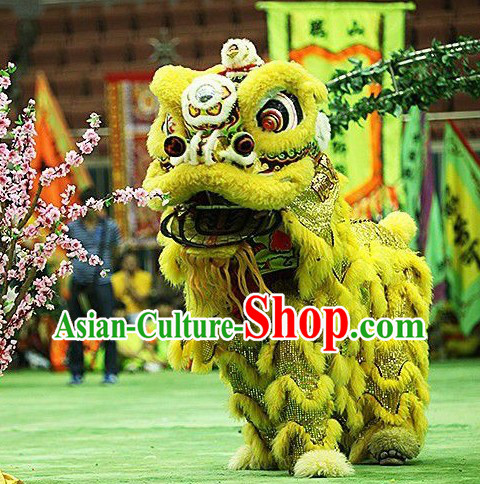 Folk Chinese Lion Dance Costume Complete Set for Display and Collection