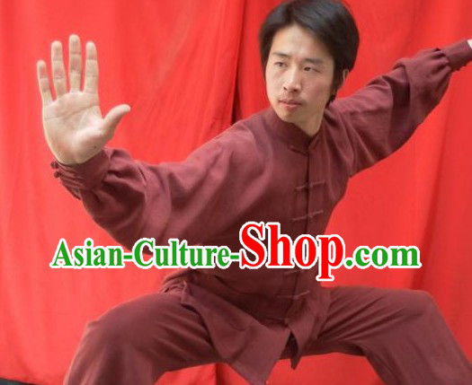 Top Quality Natural Flax Mandarin Chinese Martial Arts Outfit
