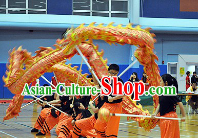 Middle School Teenagers Students Illuminated Dragon Dance Equipment Complete Set
