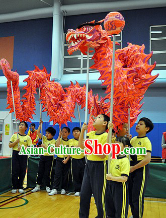 Junior School Students Luminous Dragon Dance Equipment Complete Set