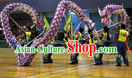 College Students Luminous Dragon Dance Costumes Complete Set