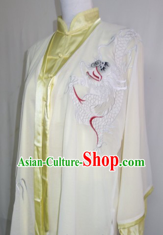 Embroidered Dragon Tai Ji Dress Pants Belt and Veil Complete Set