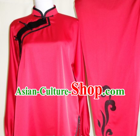 Silk Mandarin Collar Blouse Pants and Belt Kung Fu Clothing Complete Set