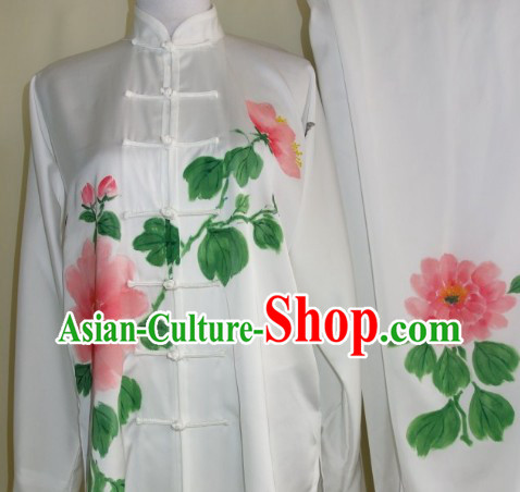 Hand Painted Flower and Butterfly Martial Art Clothes