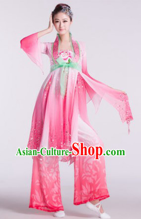 Chinese Classical Dancing Costumes and Hair Accessories for Women