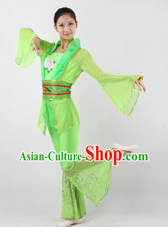 Green Han Dynasty Classical Dance Costumes