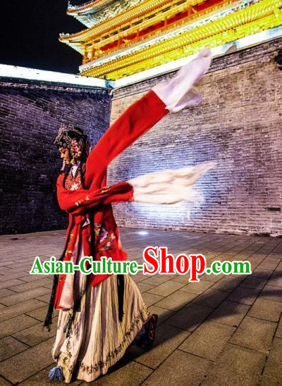 Traditional Chinese Beijing Opera Hua Dan Costumes Complete Set