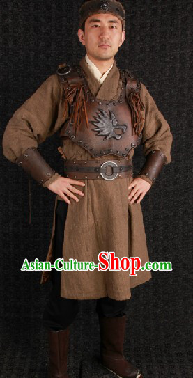 Ancient Mongolian General Armor Costumes Complete Set