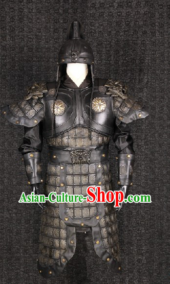 Three Kingdoms TV Drama or Film Production Zhang Fei Armor Costumes and Helmet for Men