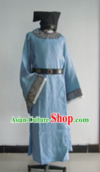 Ancient Chinese Lover Costumes and Hat Complete Set for Men