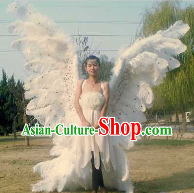 Super Big Victoria Secret Style White Long Angel Wings Stage Performance Props