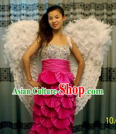 Handmade Professional Dance White Angel Wings
