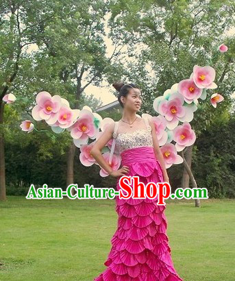 Handmade Professional Stage Performance Flower Wings