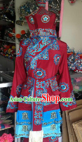 Wu Sheng Chinese Opera Hua Bao Costumes and Hat