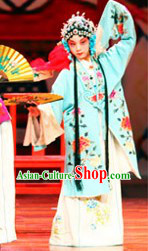 Traditional Chinese Blue Peking Opera Hua Dan Robe for Kids