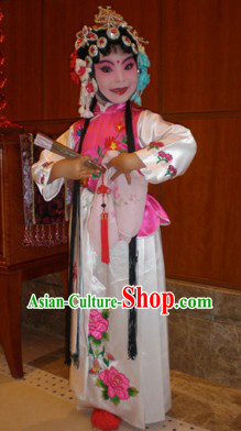 Traditional Chinese Peking Opera Hua Dan Costumes for Child