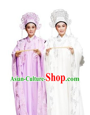 Traditional Chinese Opera Butterfly Love Liang Shanbo and Zhu Yingtai Costumes and Hats