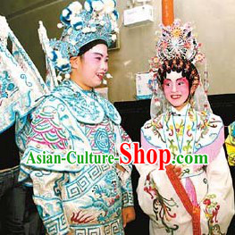 Traditional Chinese Opera Qing Yi and Wu Sheng Costumes