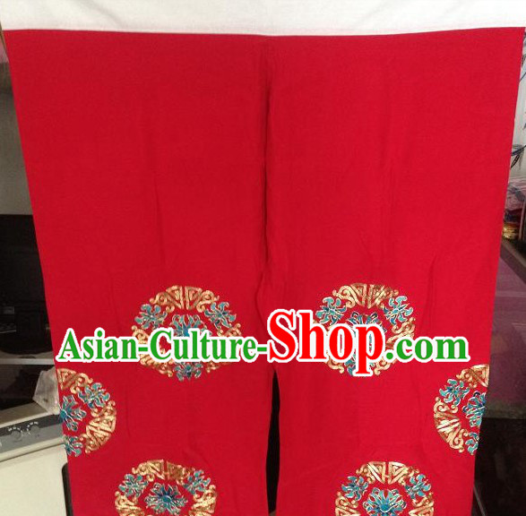 Traditional Chinese Silk Hands Embroidered Pants