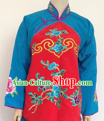 Ancient Chinese Red and Blue Jacket and Skirt