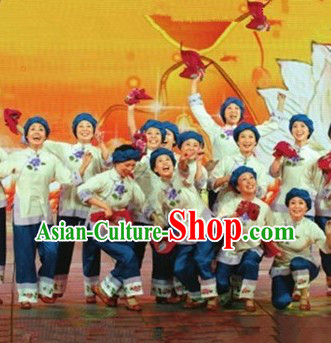 Traditional Chinese Grandmother Dance Costumes for Women
