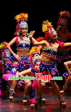 Ethnic Dance Costumes and Hat Complete Set