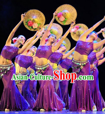 Traditional Chinese Yunnan Dance Costumes Complete Set