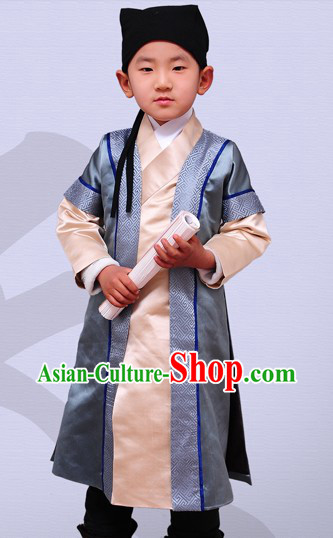 Ancient Chinese Han Dynasty Clothes Complete Set for Children