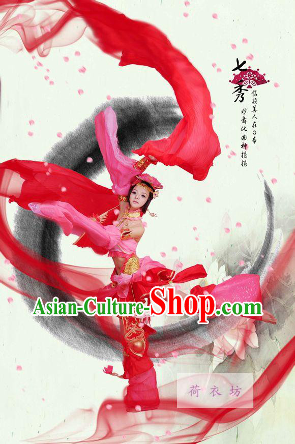 Ancient Asian Princess Cosplay Costumes and Hair Accessories
