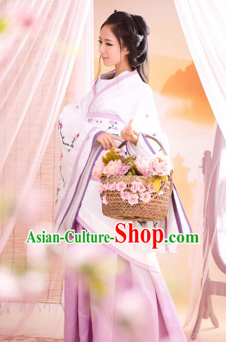 Traditional Chinese Plum Blossom Hanfu Dresses for Women