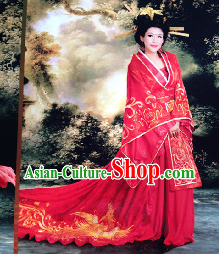 Chinese Classical Prince Wedding Outfit and Crown Complete Set for Men