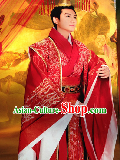 Chinese Classical Princess Wedding Outfit and Crown Complete Set