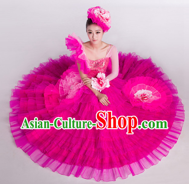 Dance Recital Costumes and Hat for Both Student and Professional Dancers