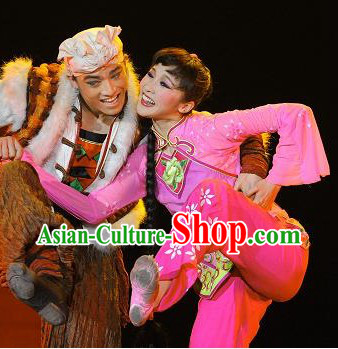 Traditional Chinese Folk Dancing Costumes Complete Set