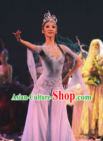Traditional Chinese Luo Shen Dance Costumes Complete Set