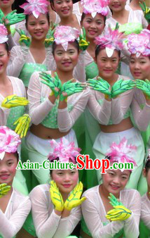 Jasmine Flower Competition Dance Costume and Headwear Complete Set